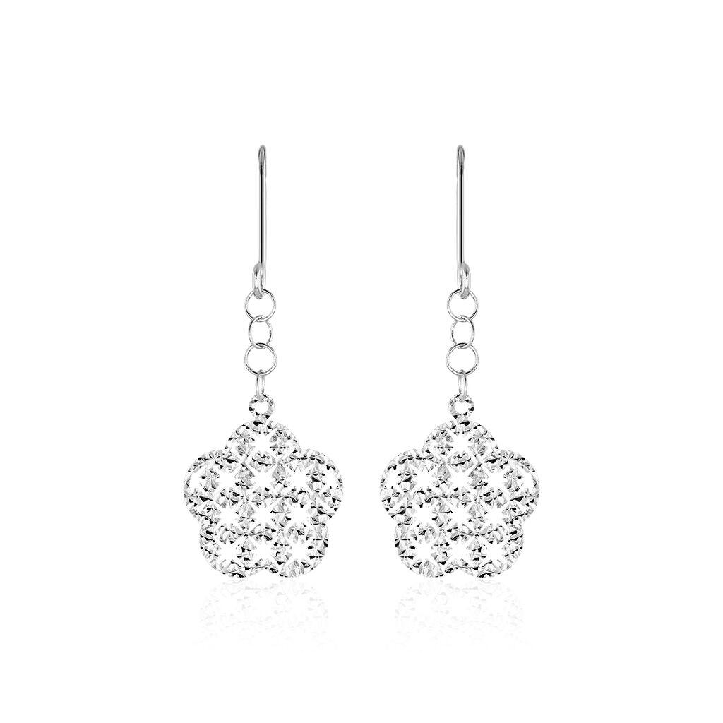 Boucles D'oreilles Pendantes Ximena Or Blanc - Boucles d'oreilles pendantes Femme | Histoire d'Or