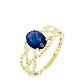 Bague Tina Or Jaune Saphir Et Diamant - Bagues avec pierre Femme | Histoire d'Or