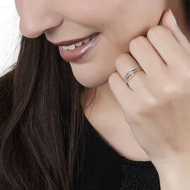 Bague Madlen Or Jaune Oxyde De Zirconium - Bagues avec pierre Femme   Histoire d'Or