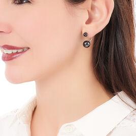 Bijoux D'oreilles Alyson Argent Blanc Céramique - Boucles d'oreilles fantaisie Femme   Histoire d'Or