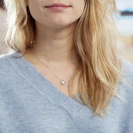 Collier Laetizia Fleur Argent Blanc Oxyde De Zirconium - Colliers fantaisie Femme | Histoire d'Or