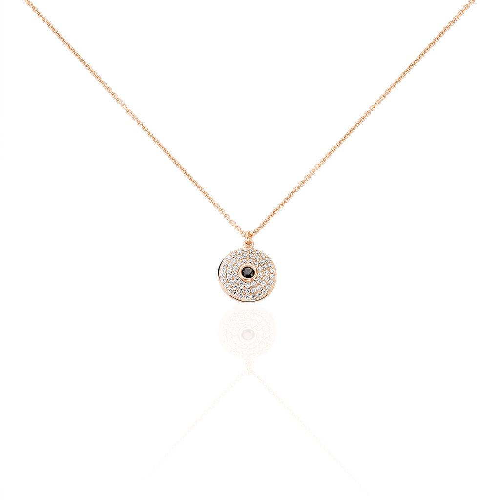 Collier Ballia Argent Rose Oxyde De Zirconium - Colliers fantaisie Femme | Histoire d'Or