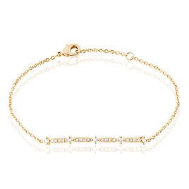 Bracelet Zabrina Plaque Or Jaune Oxyde De Zirconium - Bracelets fantaisie Femme | Histoire d'Or