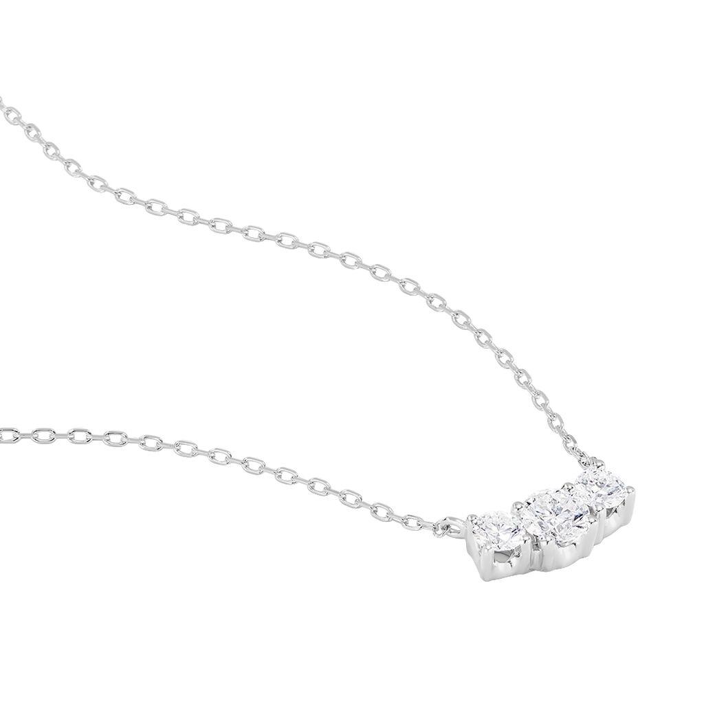 Collier Sabine Or Blanc Diamant - Bijoux Femme | Histoire d'Or