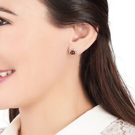 Boucles D'oreilles Argent Ambre - Boucles d'oreilles fantaisie Femme | Histoire d'Or