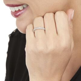 Bague Pastille Or Blanc Diamant - Bagues avec pierre Femme   Histoire d'Or