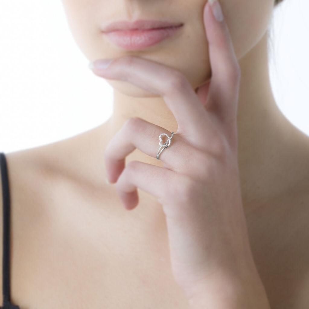 Bague Louise Or Rose Diamant - Bagues Coeur Femme   Histoire d'Or