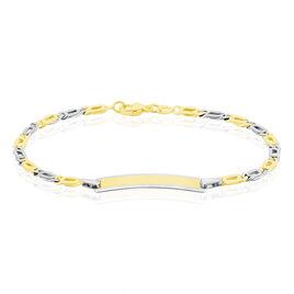 Bracelet Identité Bébé Or Bicolore Andrea - Bracelets Communion Enfant | Histoire d'Or