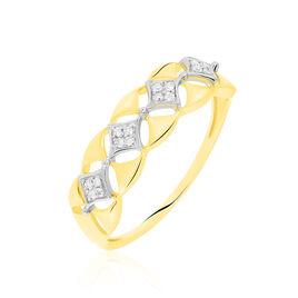 Bague Caterine Or Bicolore Diamant - Bagues avec pierre Femme | Histoire d'Or