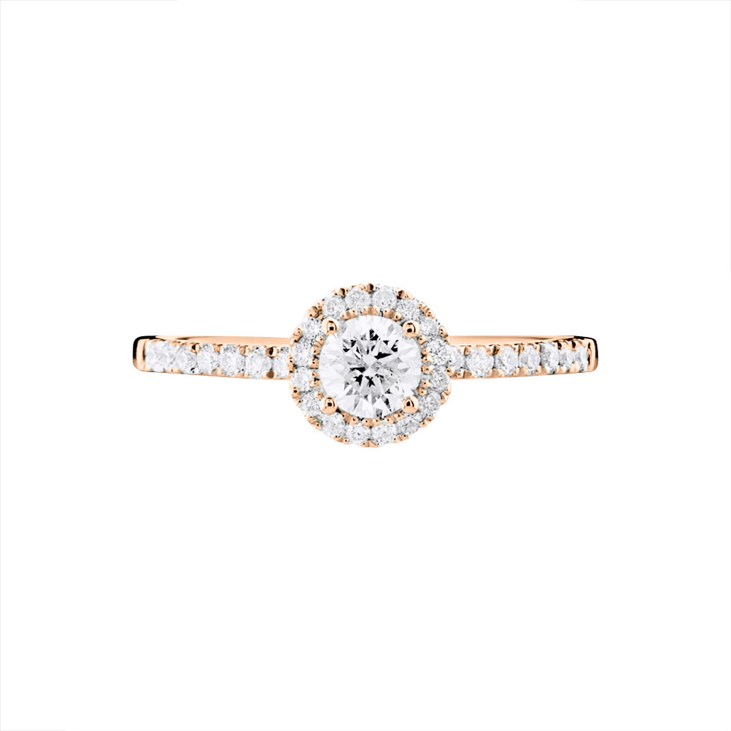 Bague Solitaire Lena Or Rose Diamant