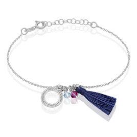 Bracelet Alea Argent Blanc Pierre De Synthese - Bracelets fantaisie Femme   Histoire d'Or