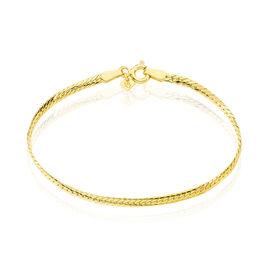 Bracelet Or Jaune Maille Anglaise - Bracelets Naissance Enfant | Histoire d'Or