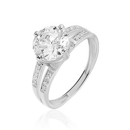 Solitaire Or Blanc Oxyde - Bagues solitaires Femme   Histoire d'Or