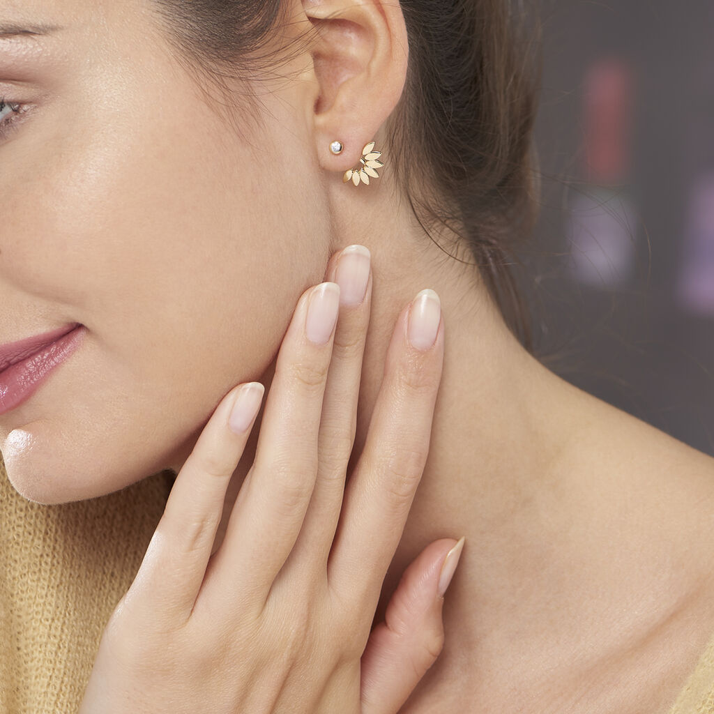 Bijoux D'oreilles Varia Plaque Or Jaune Oxyde De Zirconium - Boucles d'oreilles fantaisie Femme | Histoire d'Or