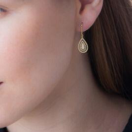 Boucles D'oreilles Pendantes Aminat Or Jaune - Boucles d'oreilles pendantes Femme | Histoire d'Or