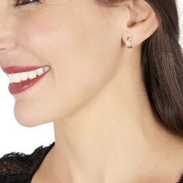 Créoles Timira Or Jaune Diamant - Boucles d'oreilles créoles Femme | Histoire d'Or