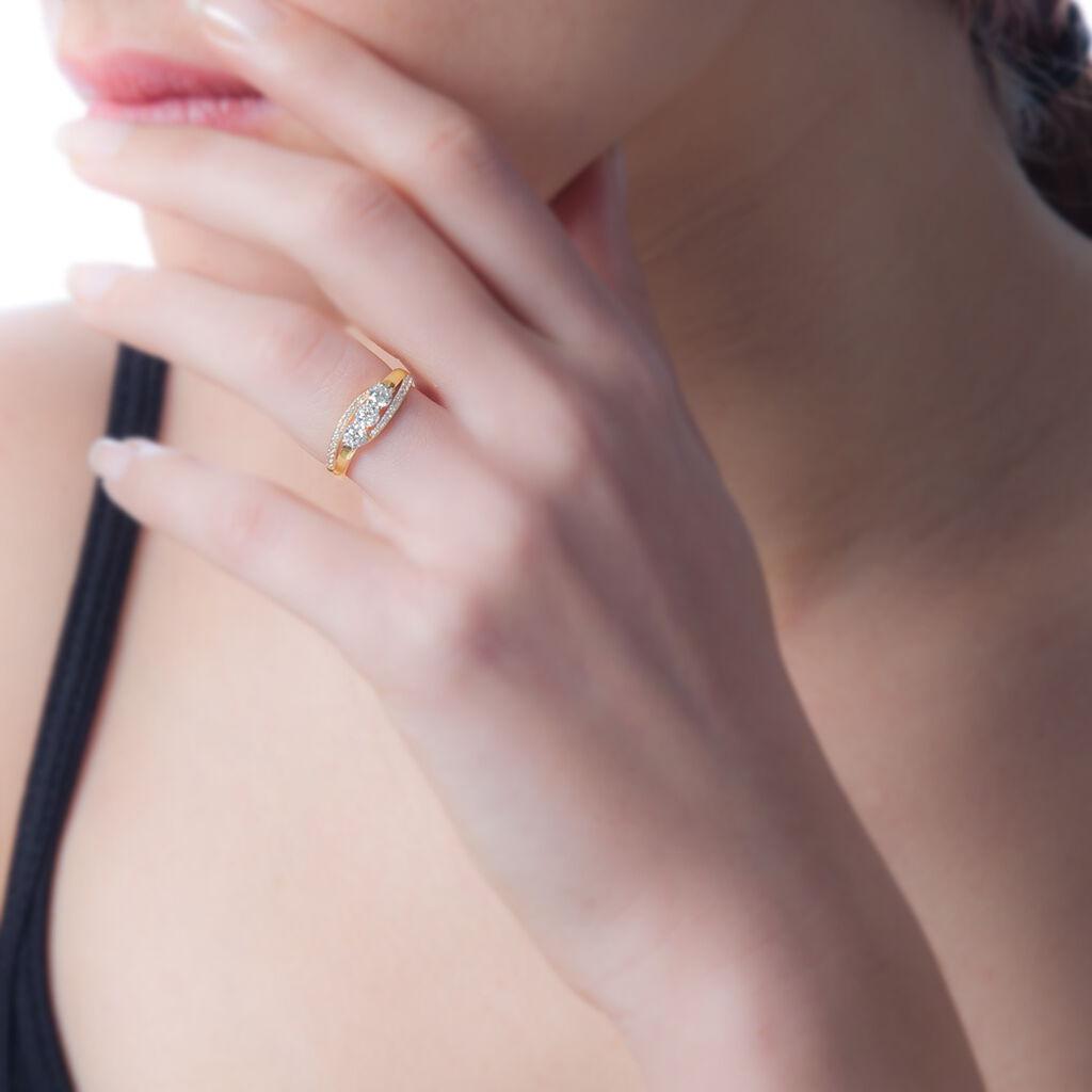 Bague Comete Or Jaune Oxyde De Zirconium - Bagues avec pierre Femme | Histoire d'Or