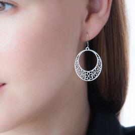 Boucles D'oreilles Pendantes Melania Argent Blanc - Boucles d'oreilles fantaisie Femme | Histoire d'Or