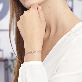 Bracelet Etincelle Argent Blanc - Bracelets fantaisie Femme | Histoire d'Or