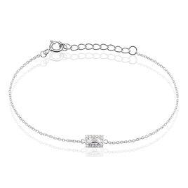 Bracelet Argent Laurine Rectangle Oxyde - Bracelets fantaisie Femme | Histoire d'Or