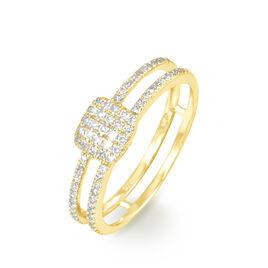 Bague Aude Or Jaune Diamant - Bagues avec pierre Femme   Histoire d'Or