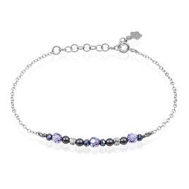 Bracelet Argent Blanc Pierre De Synthese - Bracelets fantaisie Femme | Histoire d'Or