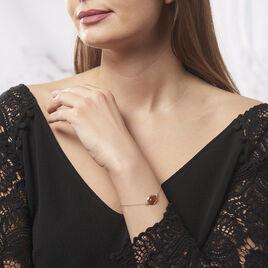 Bracelet Hilda Argent Blanc Ambre - Bracelets fantaisie Femme   Histoire d'Or