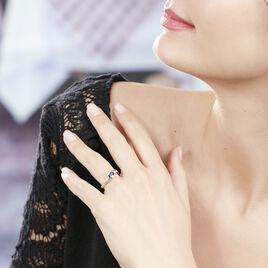 Bague Or Blanc Saphir Et Diamants - Bagues solitaires Femme | Histoire d'Or