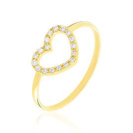 Bague Lovana Or Jaune Oxyde De Zirconium - Bagues Coeur Femme | Histoire d'Or