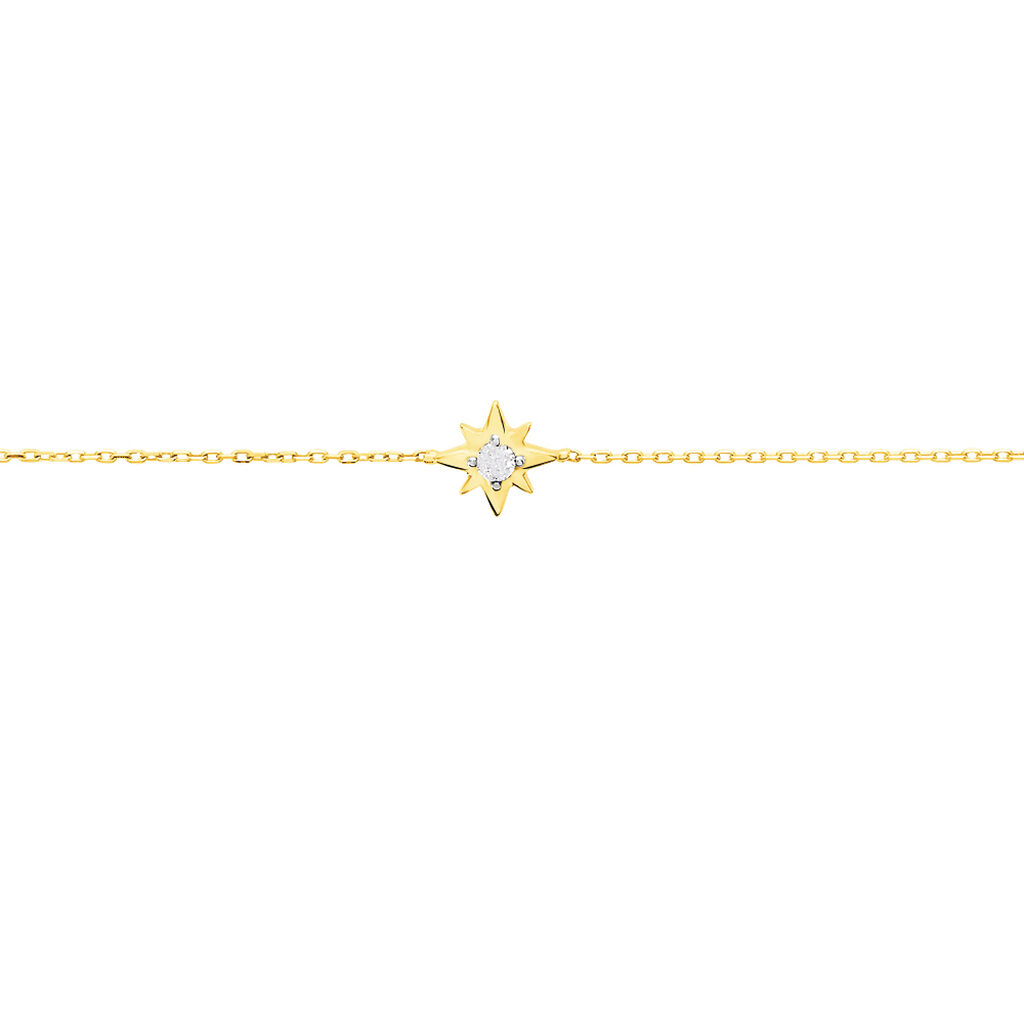 Bracelet Astralia Or Jaune Oxyde De Zirconium - Bijoux Etoile Femme   Histoire d'Or