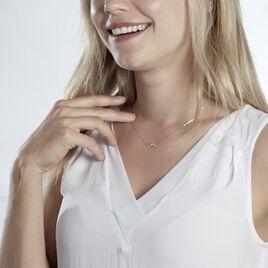 Collier Immortelle Argent Blanc Oxyde De Zirconium - Colliers Infini Femme | Histoire d'Or