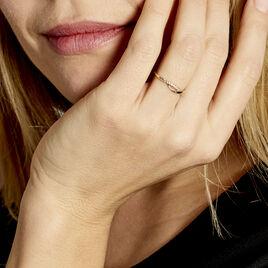 Bague Cass Or Jaune Oxyde - Bagues avec pierre Femme | Histoire d'Or