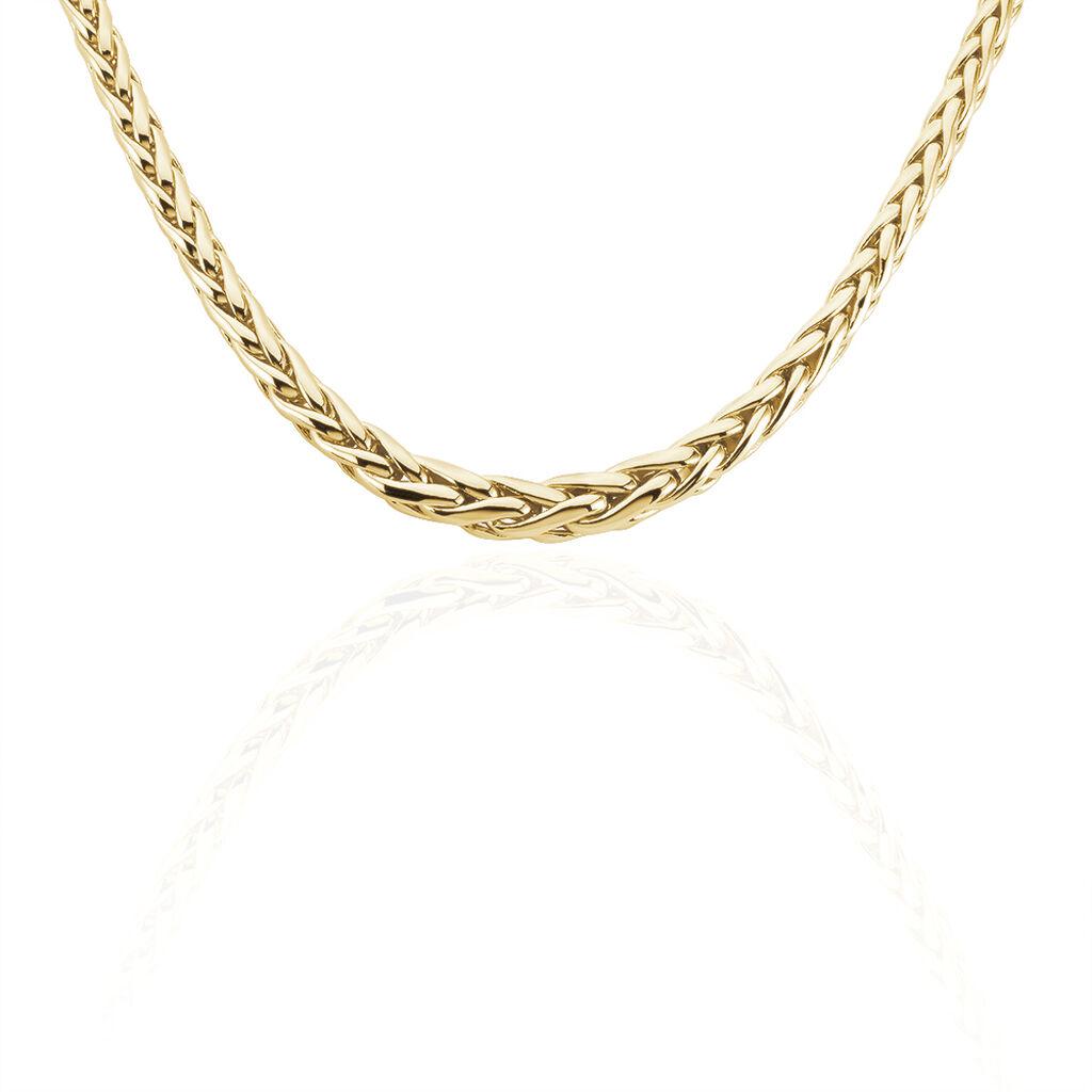 Chaîne Avelyne Maille Palmier Plaque Or Jaune - Chaines Femme | Histoire d'Or
