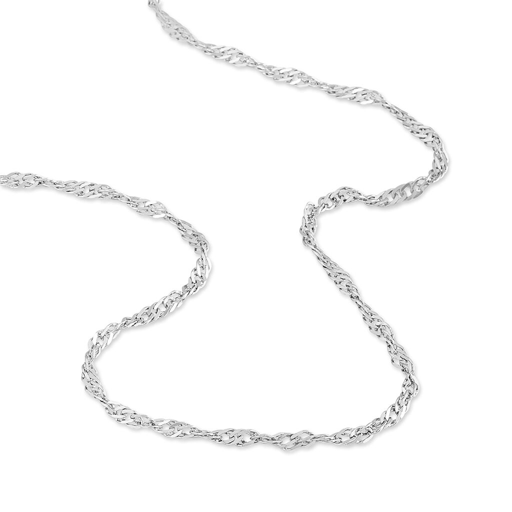 Chaîne Leliana Maille Singapour Or Blanc - Chaines Femme | Histoire d'Or