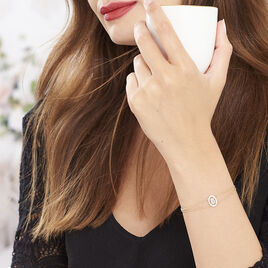 Bracelet Classical Plaque Or Jaune Oxyde De Zirconium - Bracelets fantaisie Femme | Histoire d'Or