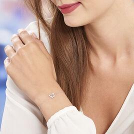 Bracelet Argent Rhodie Paola Papillon Oxyde - Bracelets Papillon Femme | Histoire d'Or