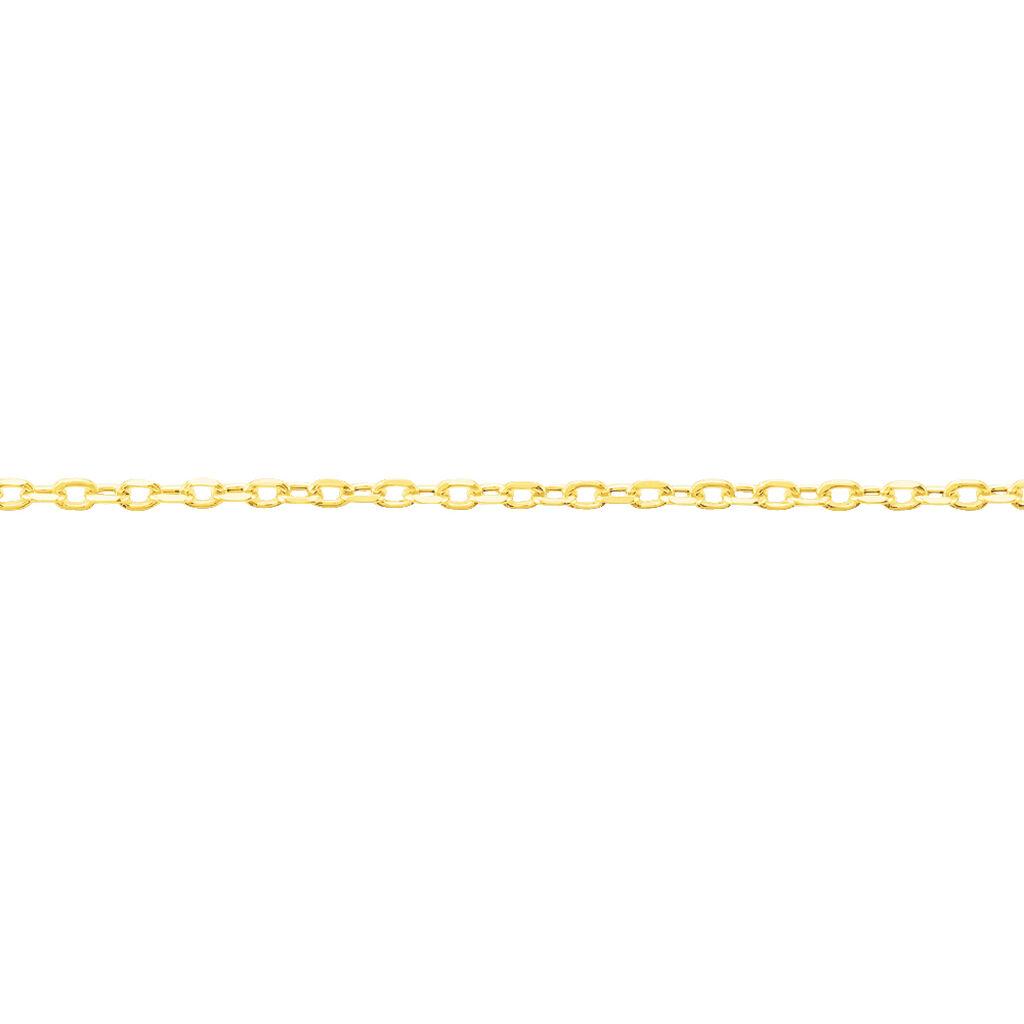 Chaîne Igoa Maille Forçat Diamantee Or Jaune - Chaines Famille | Histoire d'Or