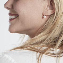 Boucles D'oreilles Pendantes Mentoura Or Blanc Diamant Synthétique - Boucles d'oreilles pendantes Femme   Histoire d'Or