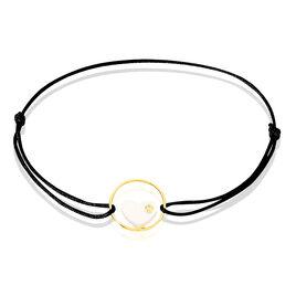 Bracelet Or Jaune Nacre Et Oxyde De Zirconium - Bracelets Coeur Femme | Histoire d'Or