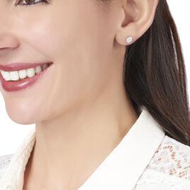 Boucles D'oreilles Puces Minna Argent Blanc Oxyde De Zirconium - Boucles d'oreilles fantaisie Femme | Histoire d'Or