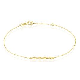 Bracelet Carolyne Or Jaune Oxyde De Zirconium - Bijoux Femme | Histoire d'Or