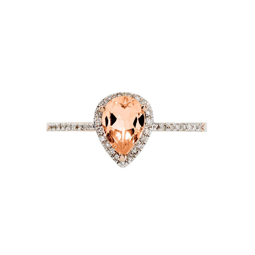 Bague Alice Or Rose Morganite Et Diamant - Bagues solitaires Femme | Histoire d'Or