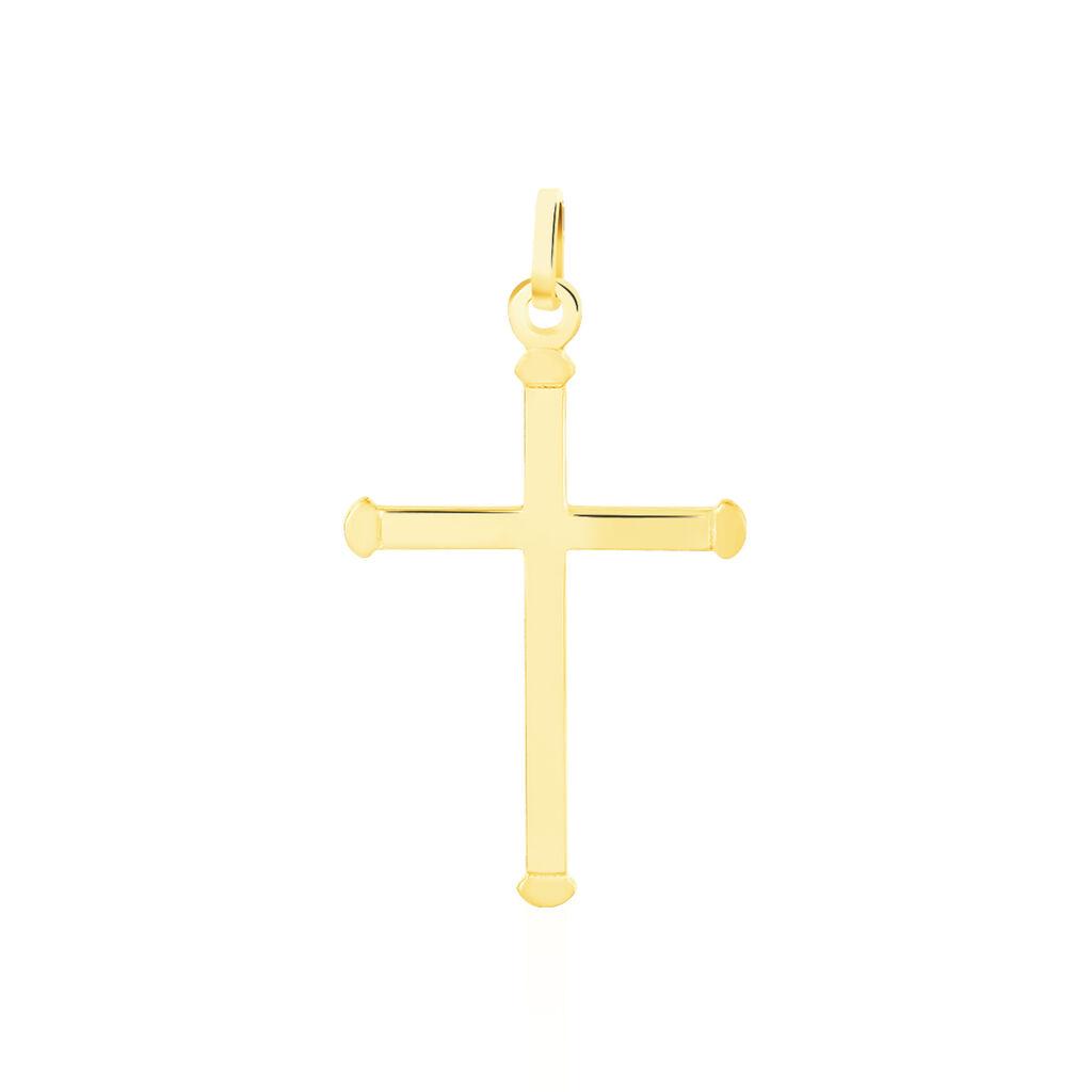 Pendentif Alyssa Croix Or Jaune - Pendentifs Croix Femme | Histoire d'Or