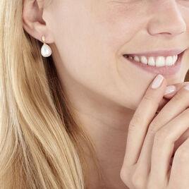 Boucles D'oreilles Pendantes Judinta Or Jaune Perle De Culture - Boucles d'oreilles pendantes Femme | Histoire d'Or