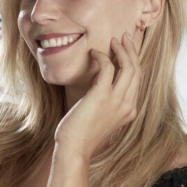 Créoles Maelia Croisees Fil Rond Or Jaune - Boucles d'oreilles créoles Femme   Histoire d'Or