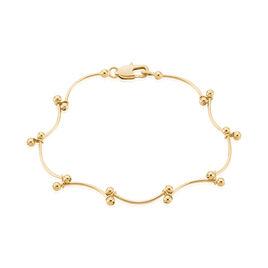 Bracelet Assma Plaque Or Jaune - Bracelets fantaisie Femme   Histoire d'Or