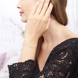 Bracelet Priscus Argent Blanc Oxyde De Zirconium - Bracelets Croix Femme | Histoire d'Or