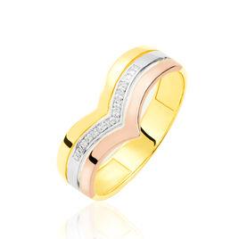 Bague Alix Or Tricolore Diamant - Bagues avec pierre Femme | Histoire d'Or