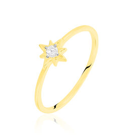 Bague Astralia Or Jaune Oxyde De Zirconium - Bagues Etoile Femme   Histoire d'Or