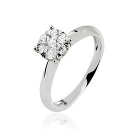 Bague Solitaire Dream Or Blanc Diamant - Bagues solitaires Femme | Histoire d'Or